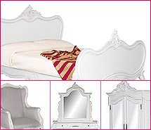 Louis Xv Collection in French White