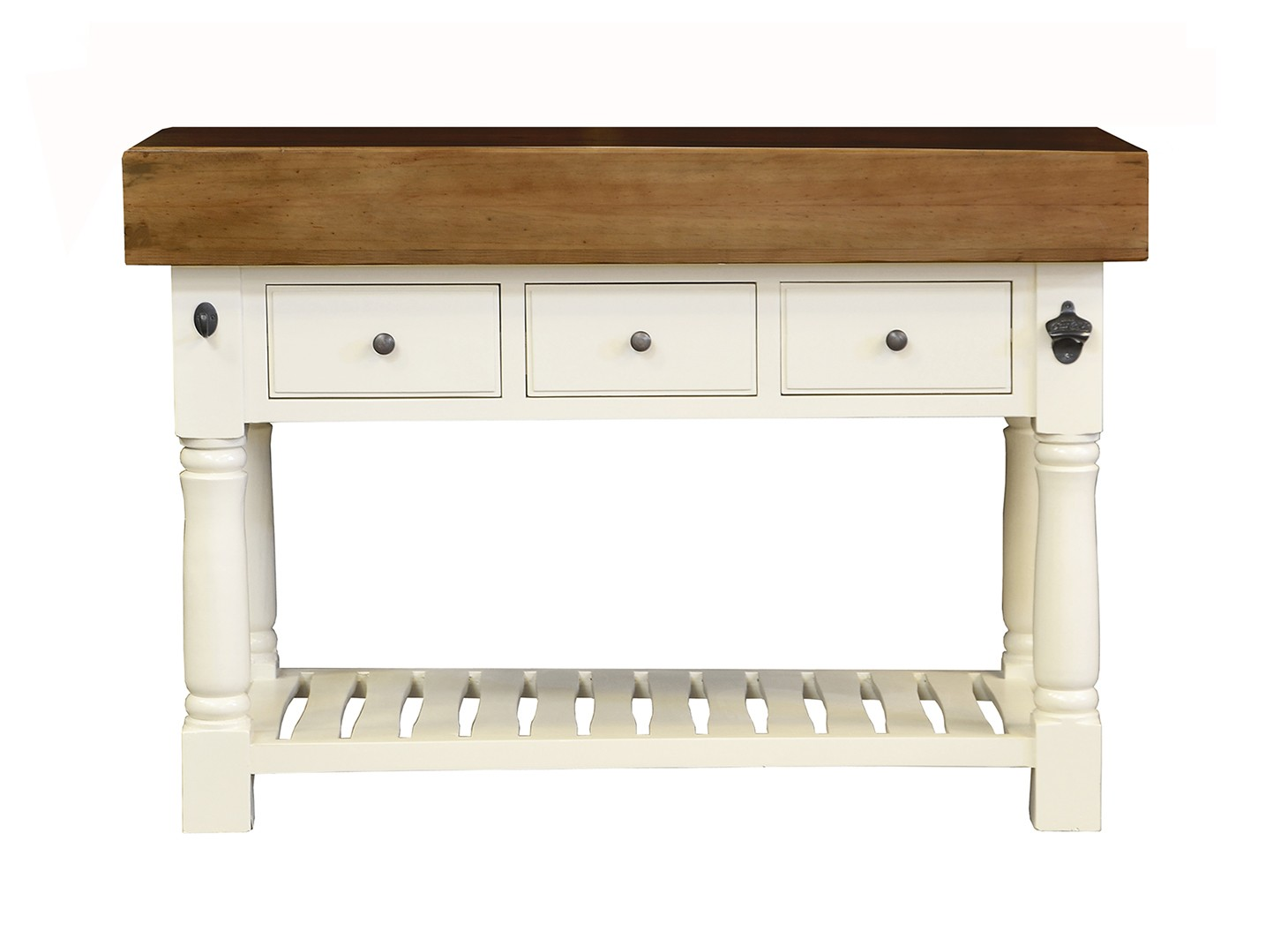 Butcher Block Kitchen Island With Three Drawers French Ivory Colour Island Furniture Co