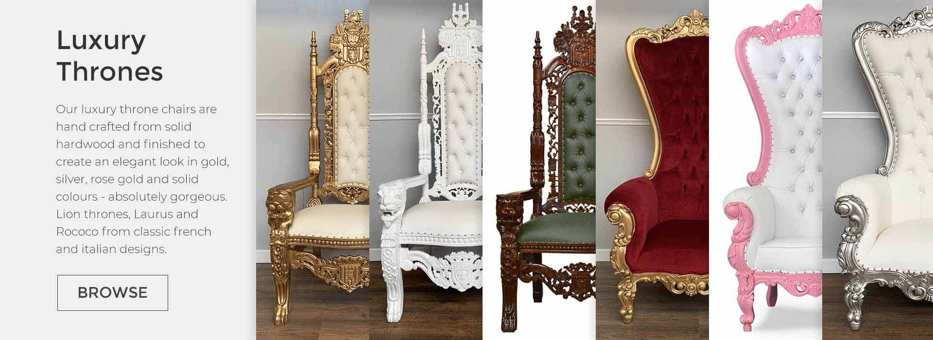 throne chairs slide