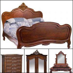 Louis XV in Mahogany Wood